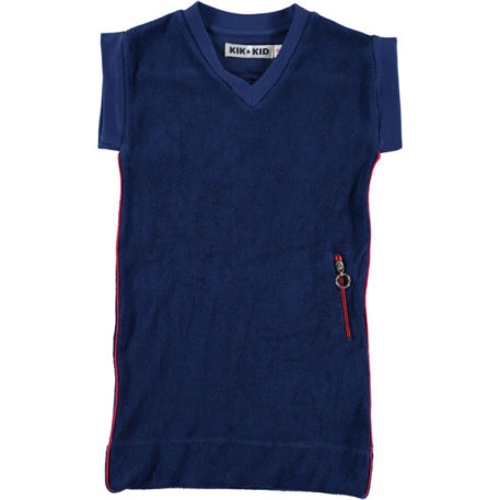 Kik Kid Dress Terry Dark Blue