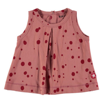 Kik Kid Halter Shirt Big Spot Red