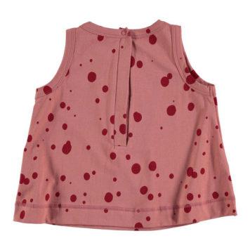 Kik Kid Halter Shirt Big Spot Red