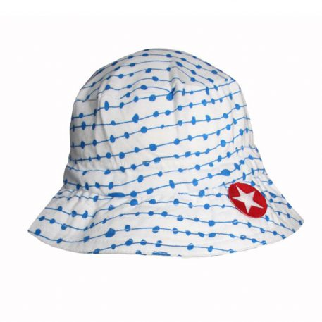 Kik Kid Hat Tiba Dot Print Cobalt