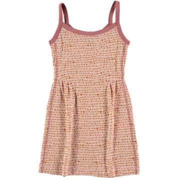 Kik Kid Kleedje Singlet Dot Coral Pink