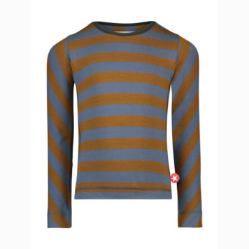 Kik Kid Longsleeve Big Stripe Brown