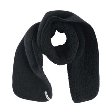 Kik Kid Shawl Fleece Fur Black-Grey