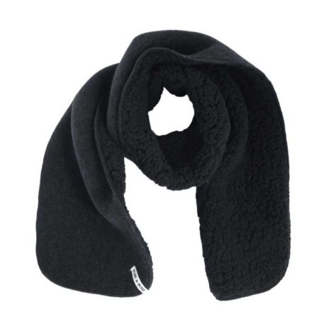 Kik Kid Shawl Fleece Fur Black-Grey