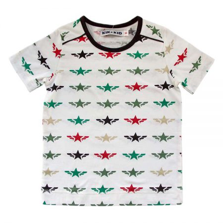 Kik Kid T-shirt Star Wings White