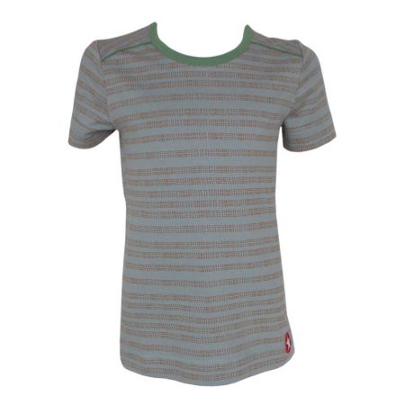 Kik Kid T-shirt Stripe Dots Blue