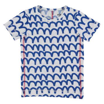 Kik Kid T-shirt Waves Cobalt SS18
