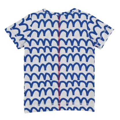 Kik Kid T-shirt Waves Cobalt SS18