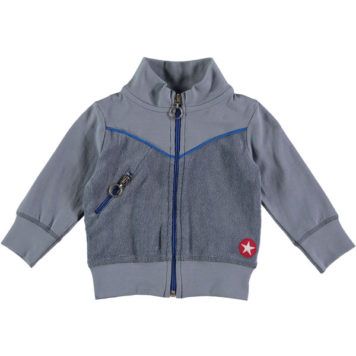 Kik Kid vest Terry Grey-Blue