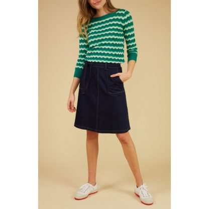 King Louie Audrey Top New Wave Meadow Green