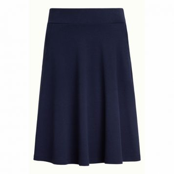 King Louie Sofia Skirt Milano Crepe Dark Navy