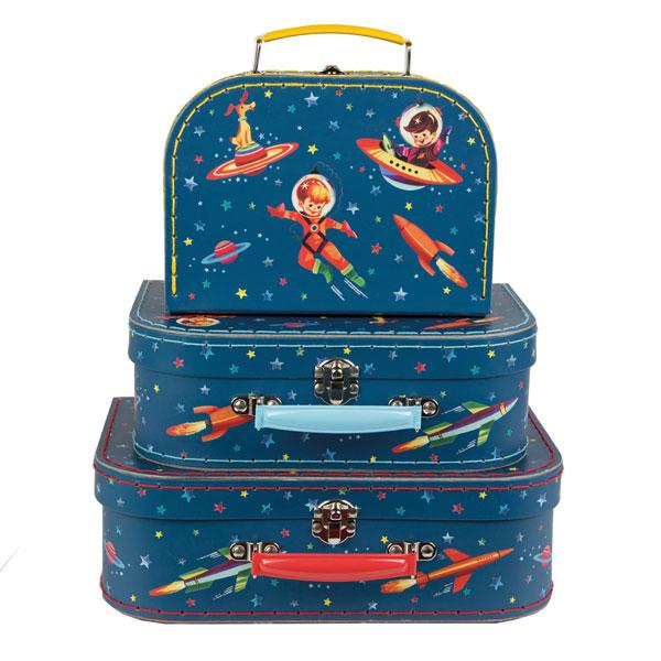 Kofferset Retro Space (3-delig)