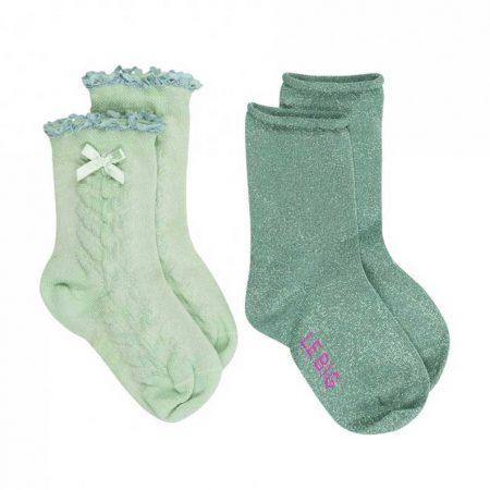 Lebig Dina Socks 2-pack Grayded Jade
