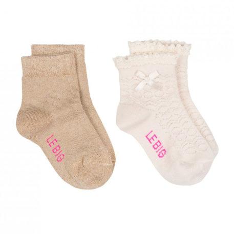 Lebig Izadora socks 2-pack Pearled Ivory