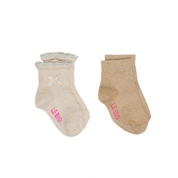 Lebig Macy Socks Pearled Ivory set van 2