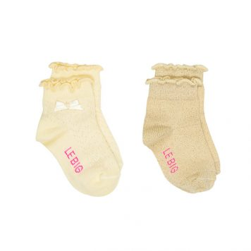 Lebig Mia Socks Mellow Yellow set van 2