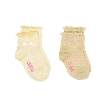 Lebig Mia Socks Mellow Yellow set van 2