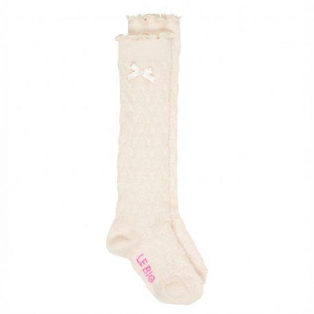 Lebig Mimi Sock Knee High Pearled Ivory