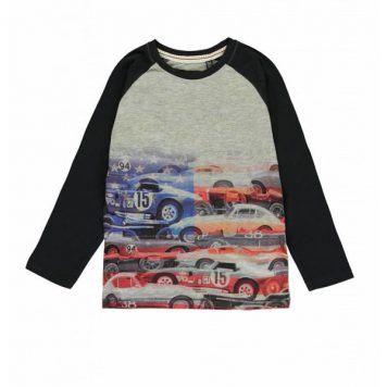 Lemon Beret Longsleeve Cars Black