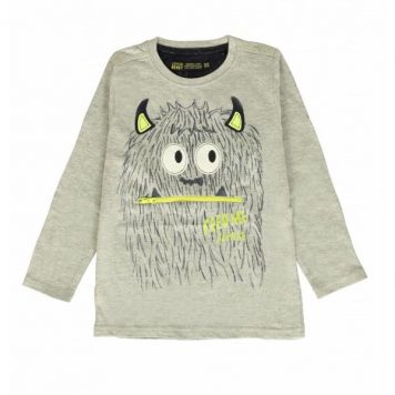 Lemon Beret Longsleeve Feed Me Grey