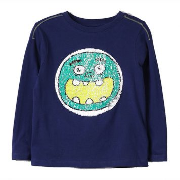 Lemon Beret Longsleeve Monsters Dark Blue