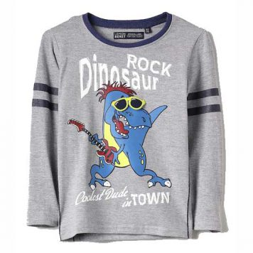 Lemon Beret Longsleeve Rock Dinosaur Grey