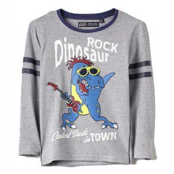 Lemon Beret Longsleeve Rock Dinosaur Grey