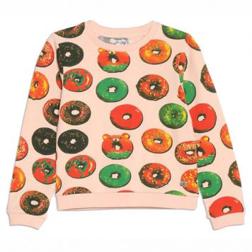 Lemon Beret Sweater Donut Pale Peach