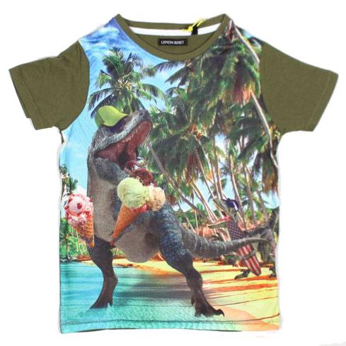 eeb8a04a2f0 Lemon Beret T-shirt Dino Khaki Green - Kaat&Co