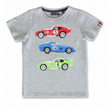 Lemon Beret T-shirt Race Cars Grey