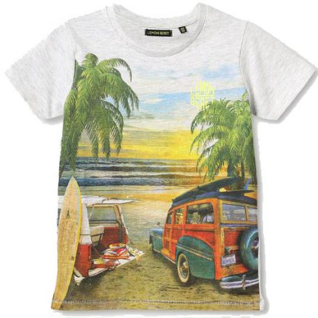 Lemon Beret T-shirt VW Bus Grey