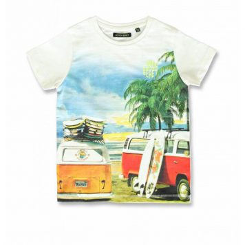 Lemon Beret T-shirt VW Bus Marshmallow