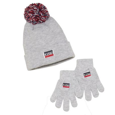 Levi's Set Muts Handschoenen Grey