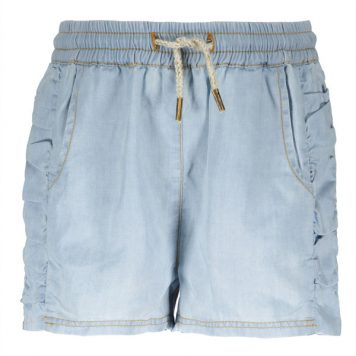 Like Flo Denim Ruffle Short