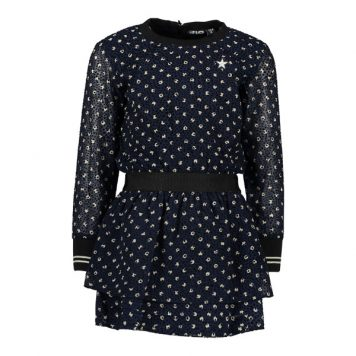 Like Flo Dress All Over Navy