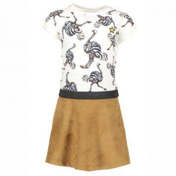 Like Flo Fancy Sweat Colourblock Dress Ostrich