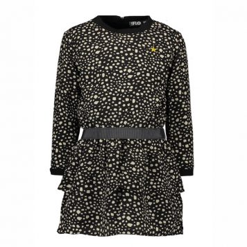 Like Flo Girls Black Dot Dress