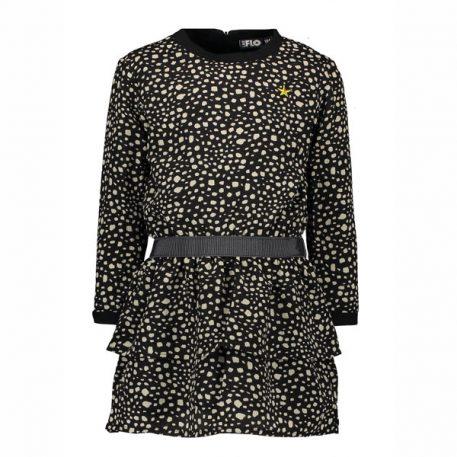Like Flo Girls Black Dot Dress