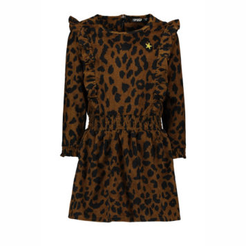 Like Flo Girls Rib Animal Ruffle Dress