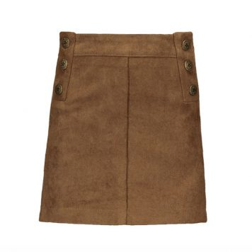 Like Flo Girls Skirt Imi Suede Camel