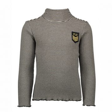 Like Flo Girls Striped Ribbed Rollneck