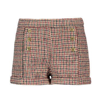 Like Flo Girls Wool Check Short