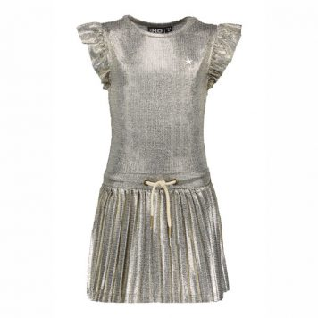 Like Flo Metallic Plisse Dress