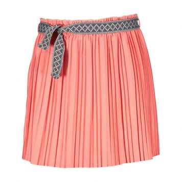 Like Flo Plisse Skirt Coral