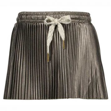 Like Flo Plisse Skirt Silver