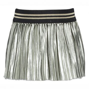 Like Flo Plisse Skirt Soft Silver