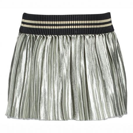 Like Flo Plisse Skirt Soft Silver