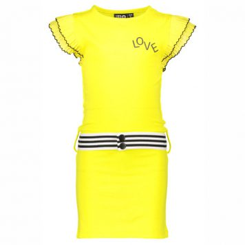 Like Flo Ruffle Dress Yellow