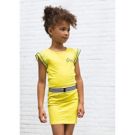 Like Flo Ruffle Dress Yellow