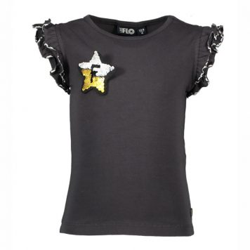 Like Flo Ruffle Tee Animal Tape Antra